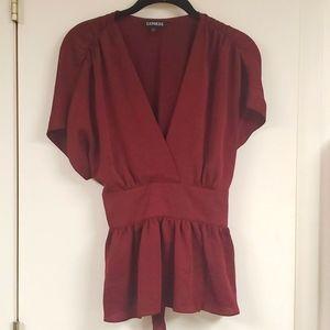 Express red dress shirt